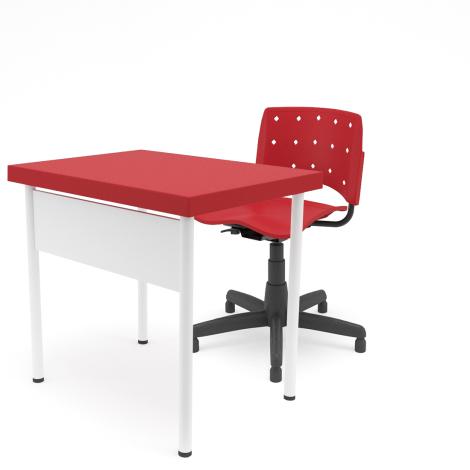 Conjunto Professor com Cadeira Ergoplax Giratória