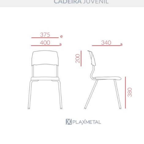 Cadeira Eloplax Juvenil